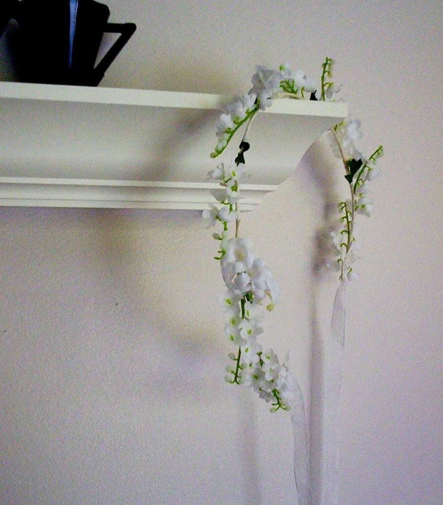 Lily Of Valley Bridal Hair Wreath First Communion Flower Girl Halo