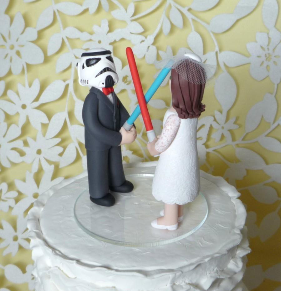 Wedding - wedding cake topper storm trooper sample