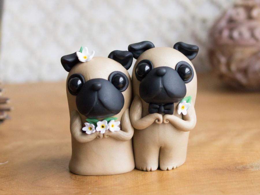 Pug Wedding Cake Topper By Bonjour Poupette 2472449 Weddbook
