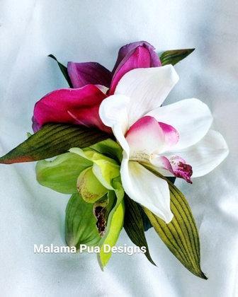 Mariage - WEDDING HAIR ACCESSORY - Silk Hair flower, Orchid Hair clip, Beach Wedding, Fascinator, Tropical flowers, Headpiece, Custom Bridal flowers