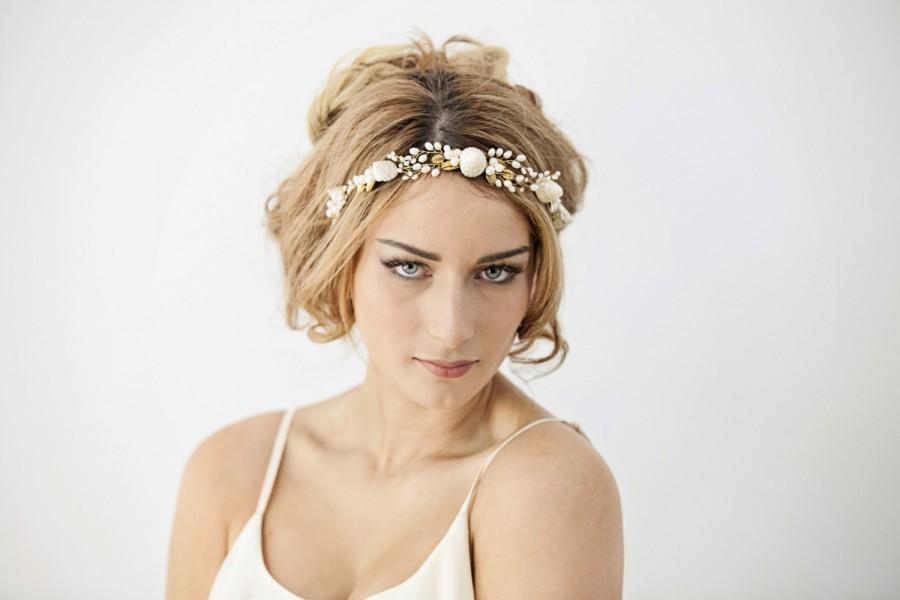Mermaid Wedding Headband Beach Bride Hairpiece Seashell Bridal Hair Piece