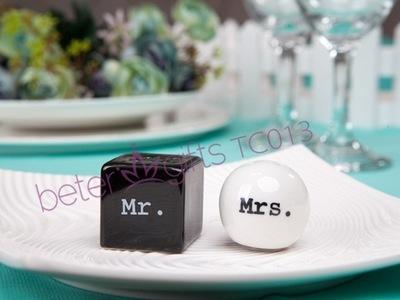 Wedding - 爆款厂家供应婚庆用品TC013促销礼品先生夫人调味瓶 胡椒罐
