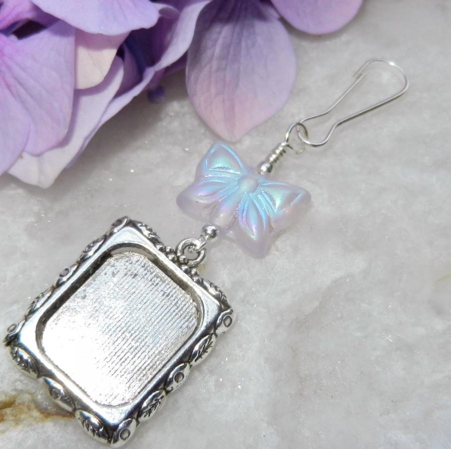 زفاف - Wedding bouquet photo charm w/ butterfly. Butterfly memory charm. Photo charm for bouquet. Gift for a bride. Flower girl bouquet charm