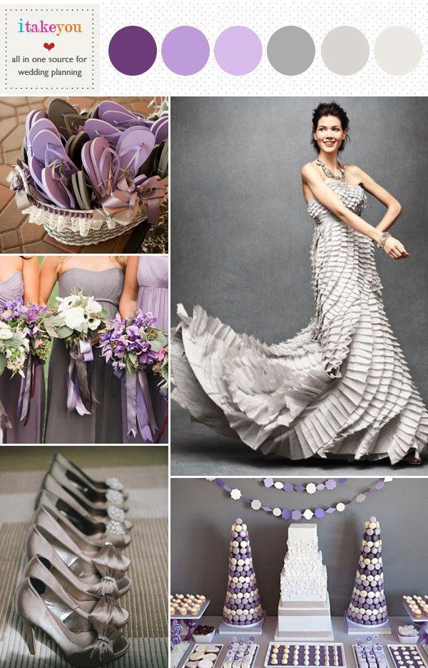Wedding Theme - Grey Purple Wedding Colours Palettes #2472835 - Weddbook