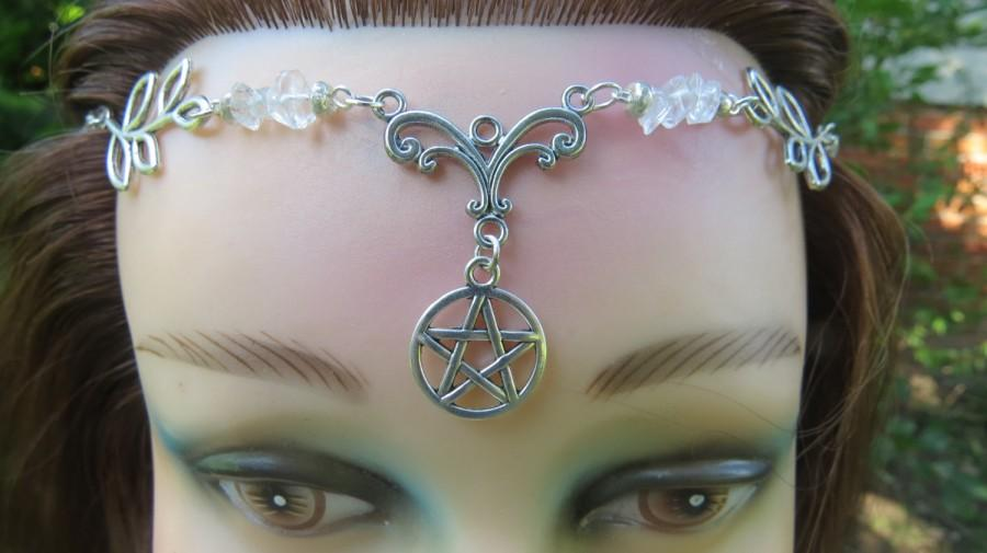 Handfasting circlet headpiece blue topaz and aquarmarine crystal handfasting circlet headpiece blue topaz and aquarmarine crystal tiara wiccan wedding headdress handfasting circlet wicca pagan witch junglespirit