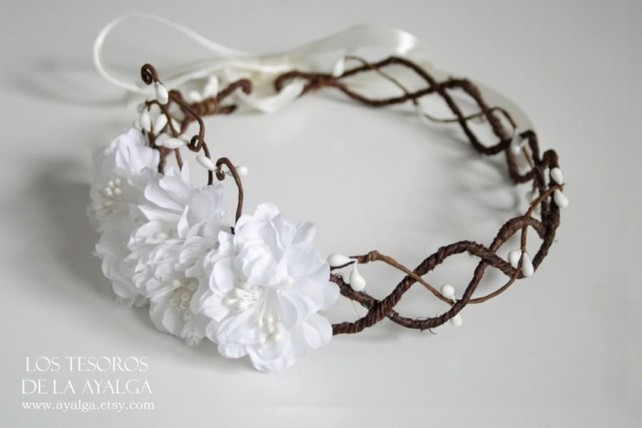 Mariage - Floral crown - wedding crown - floral headpiece - bridal headpiece