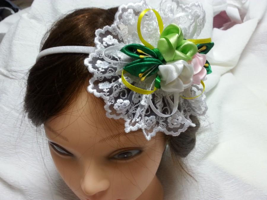 Mariage - Flower girl flower crown, little girl flower crown