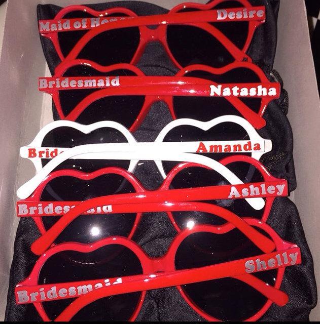Mariage - Heart Sunglasses- Custom Heart Sunglasses, Love Sunglasses, Child & Adult, Wedding Sunglasses, sweet sixteen parties,  Fast Ship