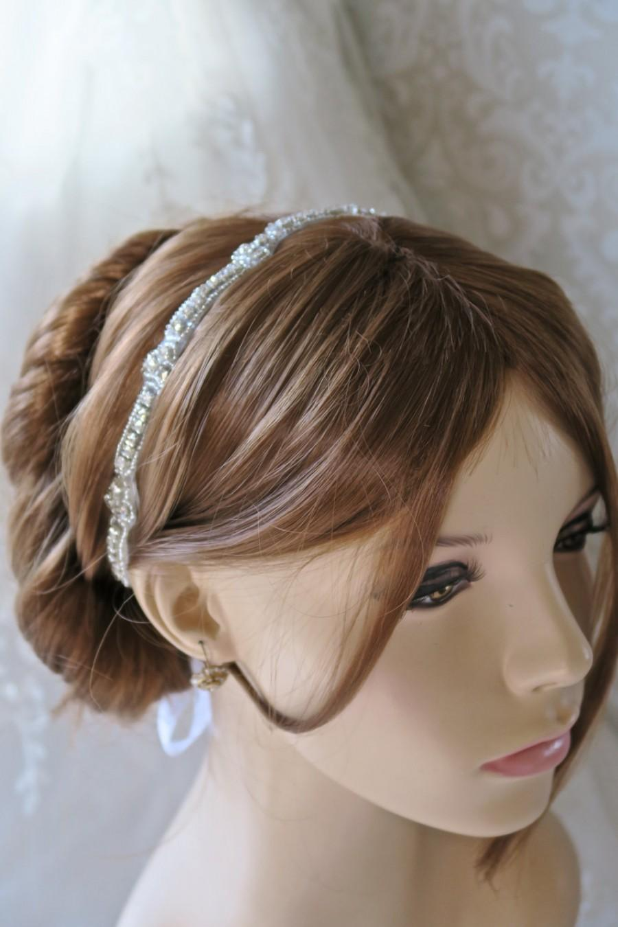 Свадьба - Bridal hair accessories,bridal headband,rhinestone headband,wedding headband,bridal hair accessories, bohemian bridal headband