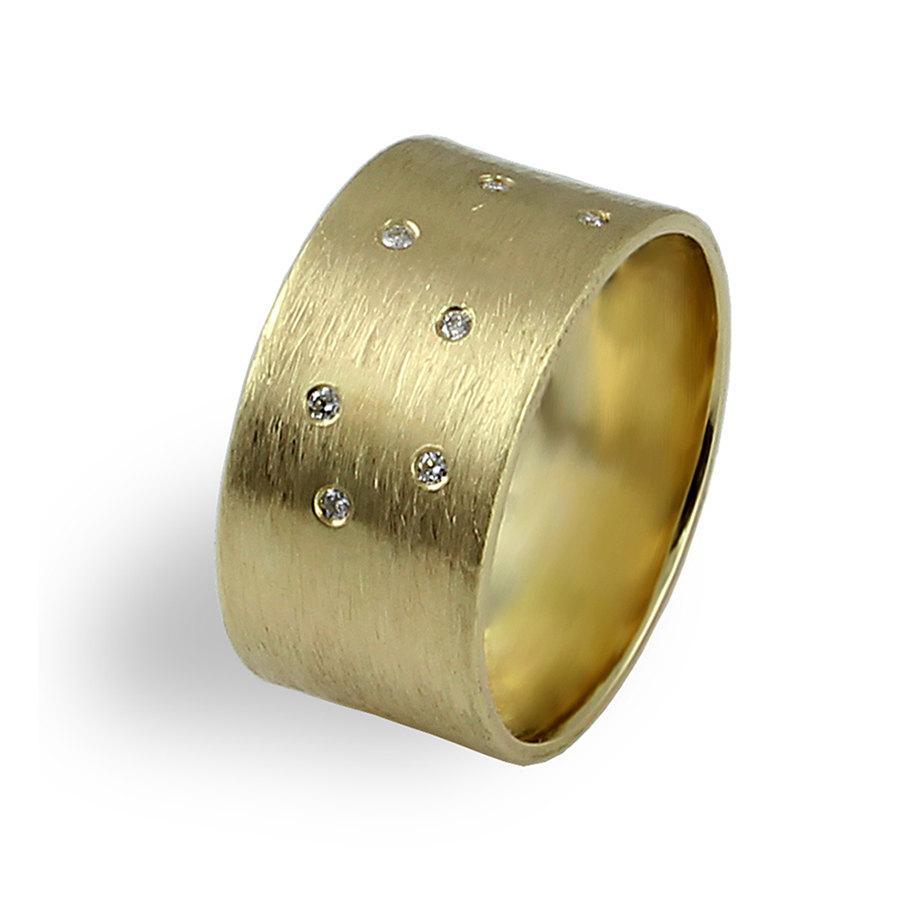 gold mens wedding band brushed mens or brushed gold wedding band zoom