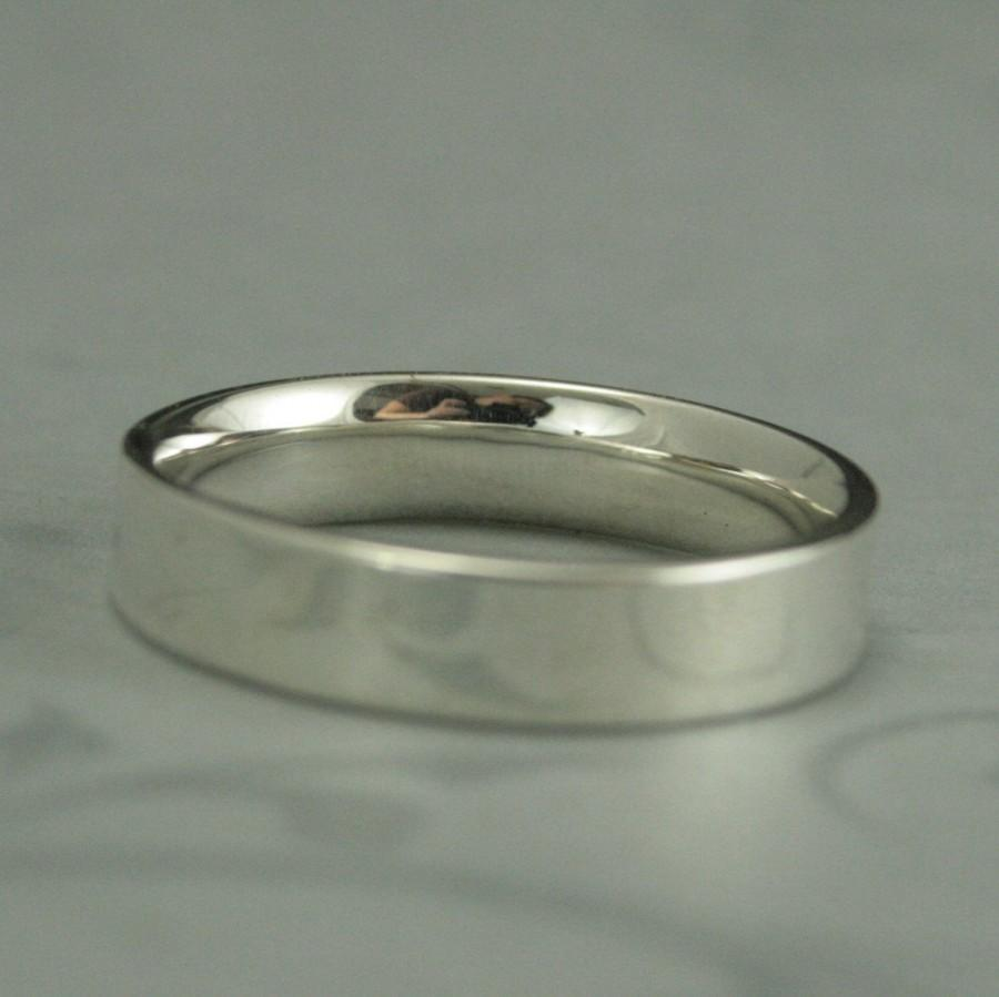 It is just a graphic of Comfort Fit Straight And Narrow Sterling Silver Flat Wedding Band