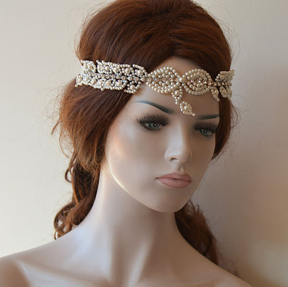 Hochzeit - Wedding Hair Wreaths & Tiaras, Pearl Headpiece, Wedding Hair Accessories, Bridal Headpiece Tiara, Wedding Headband