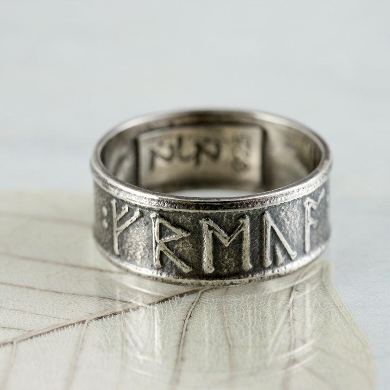 Custom Rune Ring In Sterling Silver Anglo Saxon Futhorc 2473297