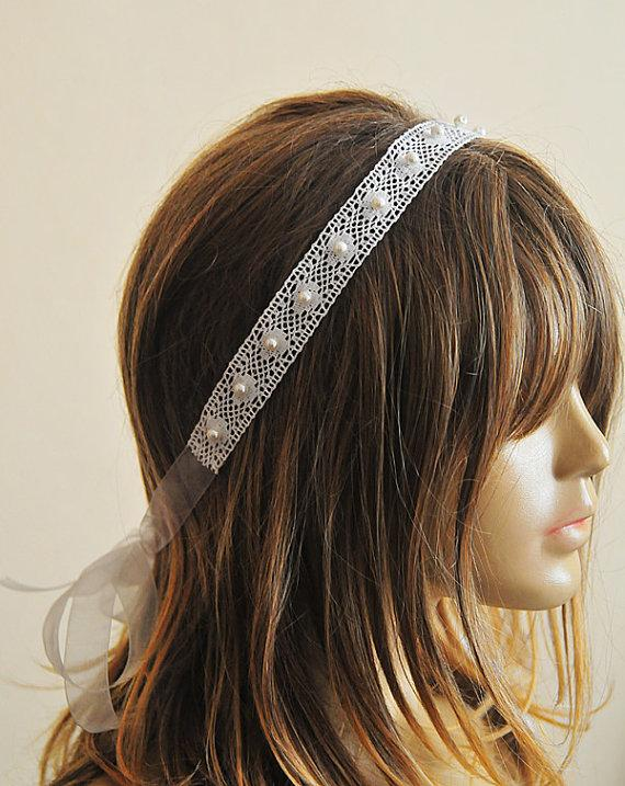 Wedding - weddings, Wedding Headband, Lace headband, bridal hairband, wedding accessory, hair accessories, wedding hair accessories, vintage style