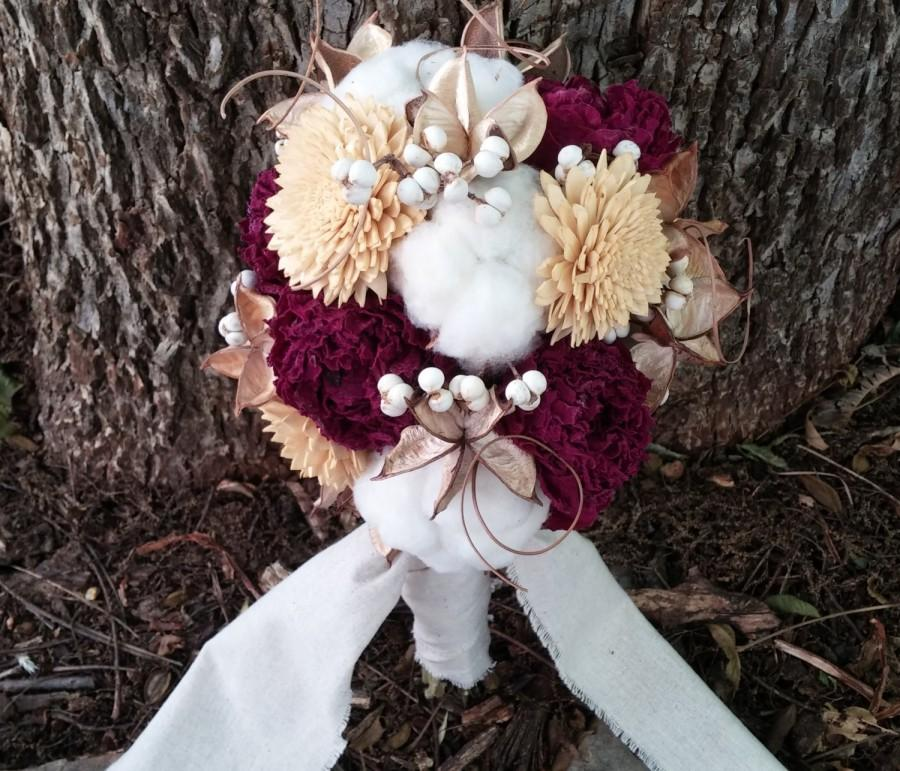 Mariage - Medium TOSS Bouquet- Lavender, Wheat, Cotton, Baby's Breath, Larkspur, Sola Flowers, Pods, Thistles, Craspedia, Dried Preserved Flowers