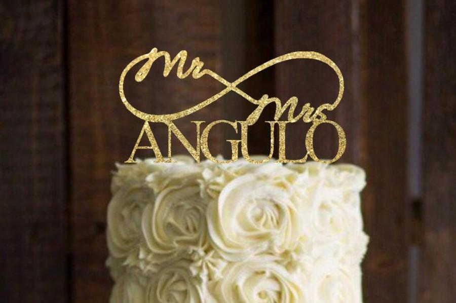 Mariage - Wedding cake topper, Cake topper for Wedding ,Personalized Mr and Mrs, Gold-Personalized Wedding Cake Topper-Rustic Wedding Cake Topper