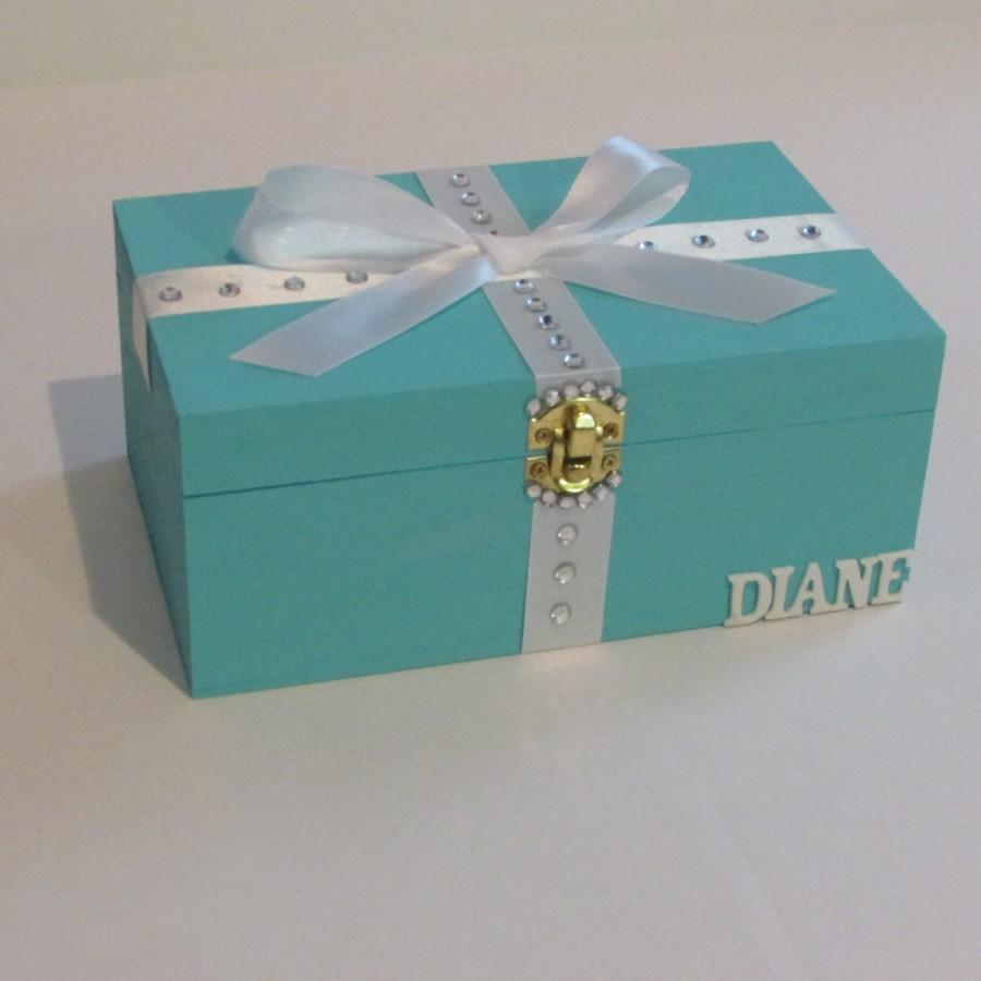 Свадьба - Bridesmaid Proposal,Will You Be My Bridesmaid,Box,Card,Keepsake Box,Will You Be My Maid of Honor Card,Teal Turquoise Aqua Mint Keepsake Box