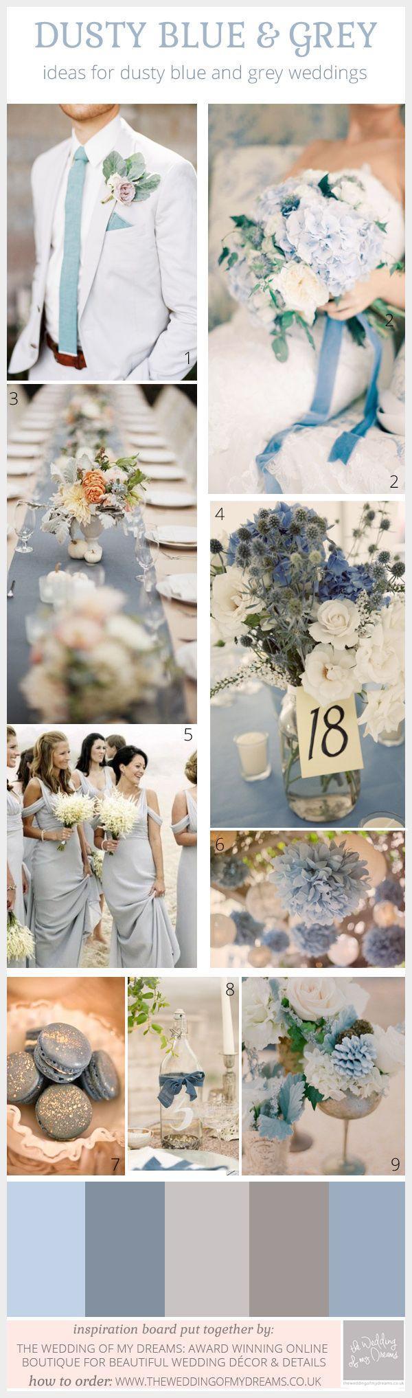 Dusty Blue And Grey Wedding Ideas Inspiration 2473406 Weddbook