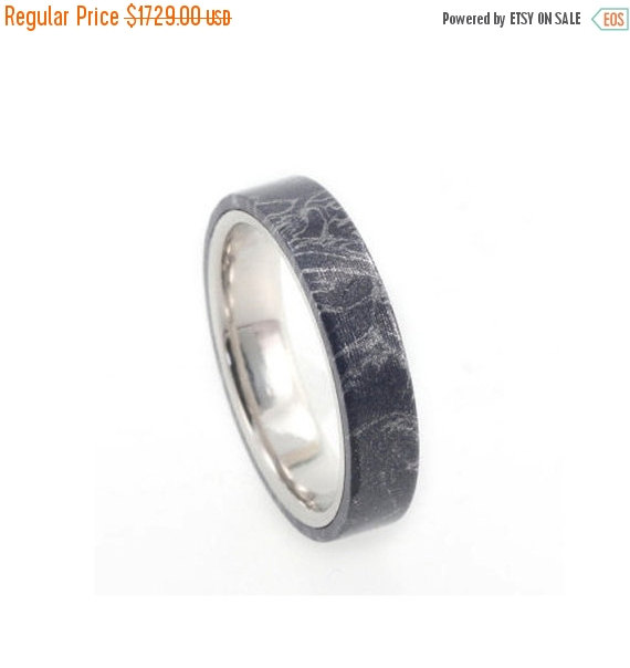Mariage - Wedding Sale Platinum Ring, Blue Mokume Wedding Band, Custom Ring Design