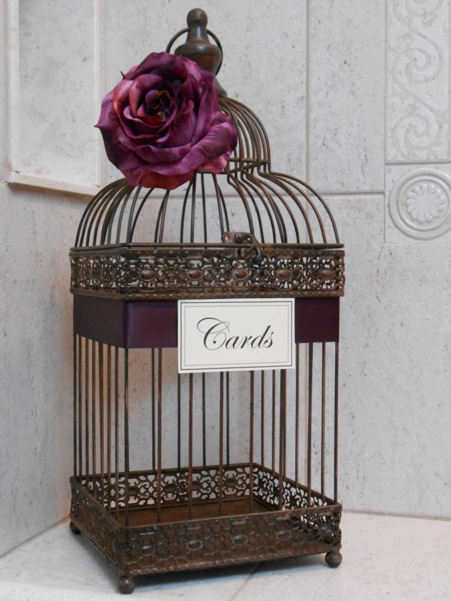Birdcage Wedding Card Holder Rustic Birdcage Wedding