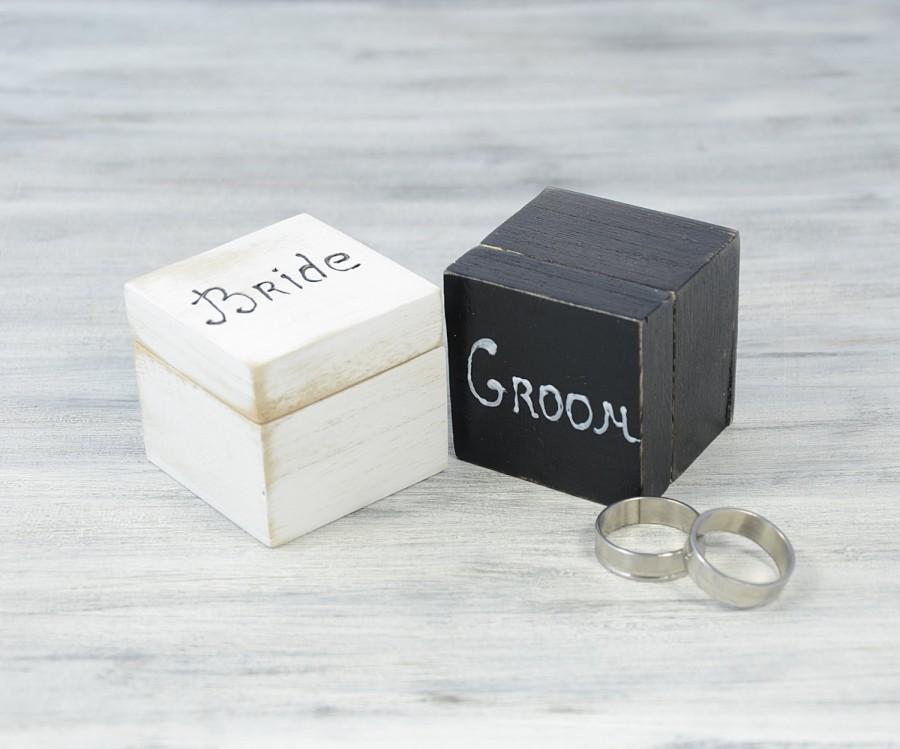 white and black wedding ring bearer boxes engagement ring