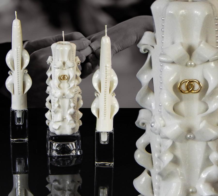 Свадьба - unity candles, candle set, white unity candle, unity candle, unity candle set, marriage candle, candle, wedding candle, wedding candles