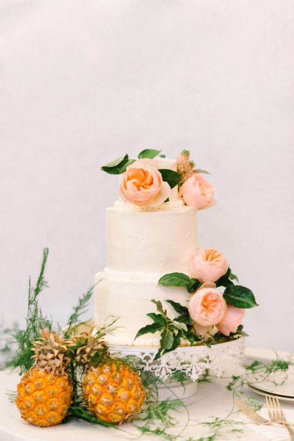 Wedding - Garden Party-Inspired Wedding Infused With Pineapples