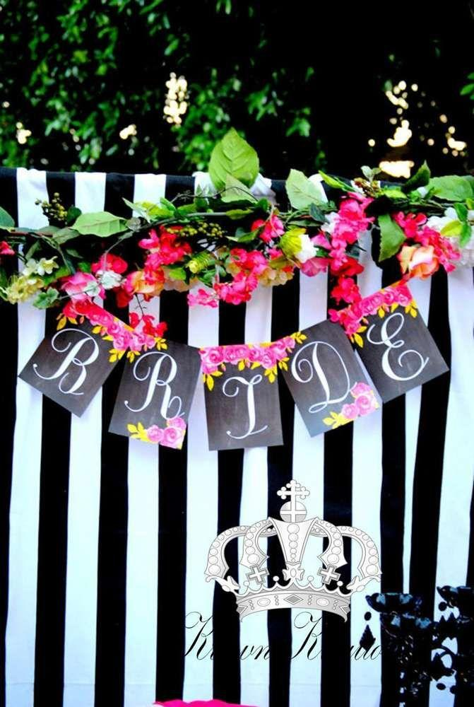 pink black and white bridal wedding shower party ideas 2473662