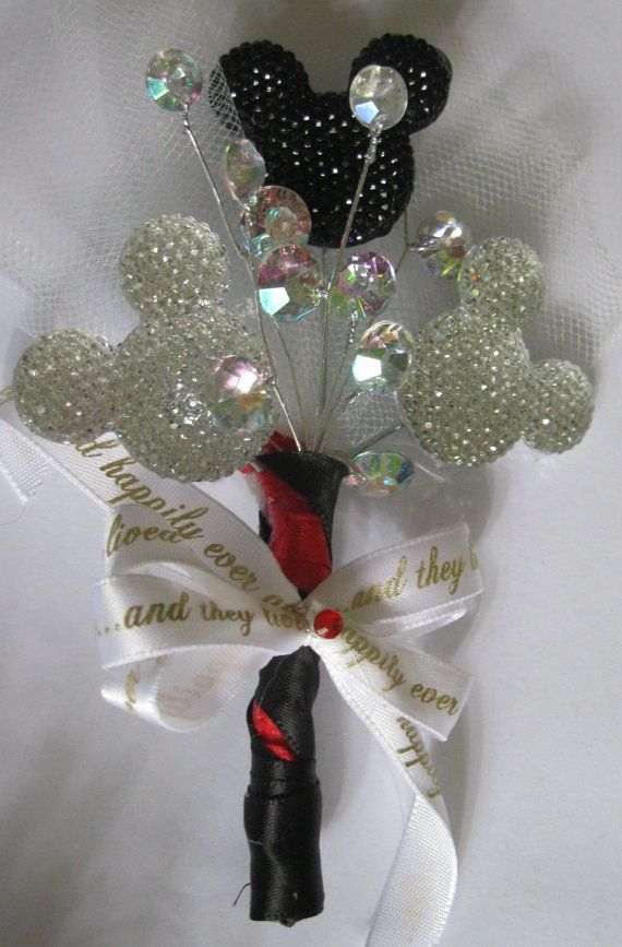 Wedding - Items Similar To Disney - Like Wedding Boutonniere On Etsy