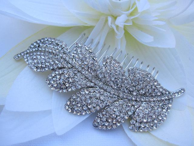 Hochzeit - Wedding hair accessory vintage Bridal hair comb Rhinestone Wedding hair comb hair jewelry Wedding headpiece Bridal hair piece Wedding comb