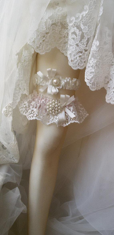 Boda - Wedding garter,Wedding leg garter ,Garter, Bridal Garter,İvory Lace Garter, Bridal Accessory,Wedding lengerie garter