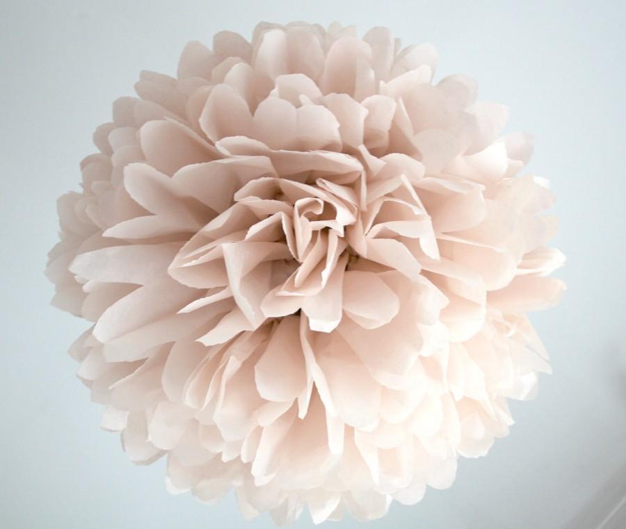 Свадьба - CUSTOMER APPRECIATION SALE Tissue pom ... Shell Pink ... 1 paper pompom
