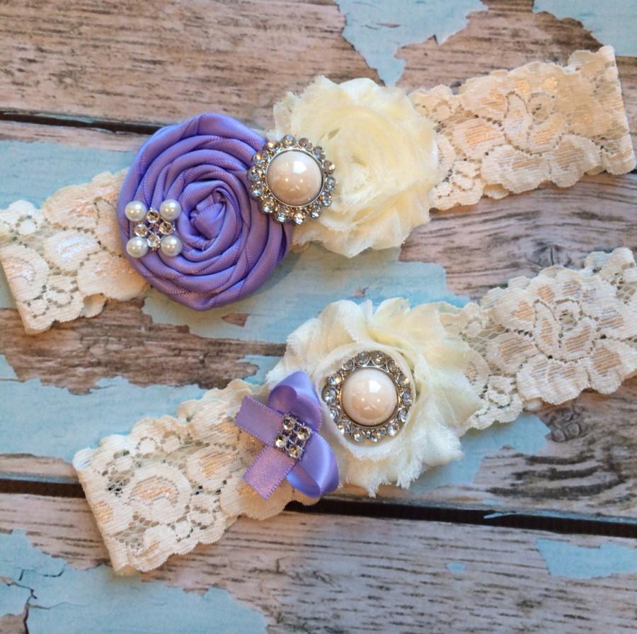 Свадьба - wedding garter / iris  / bridal  garter/  lace garter / toss garter /  garter / vintage inspired lace garter/ U PICK Color