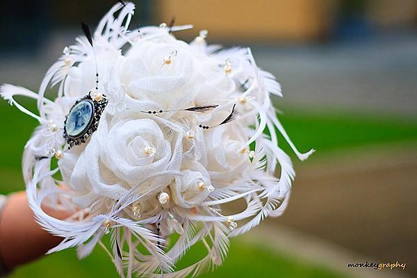 Wedding - Bridal bouquet VINTAGE GLAMOUR- Made to order - Vintage inspired