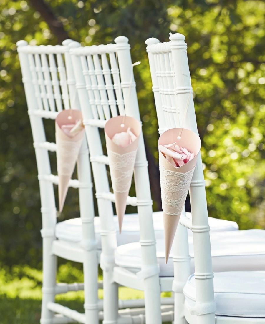 Paper cones wedding