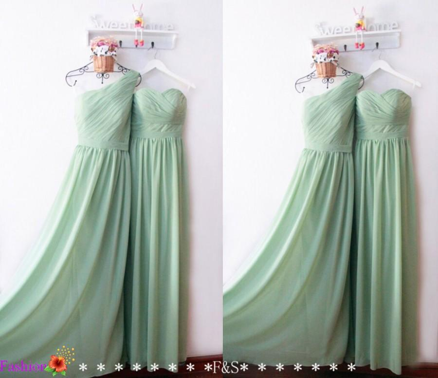 Bridesmaid Dress Y Sage Green Mint Dresses Long Wedding Party Prom Strapless