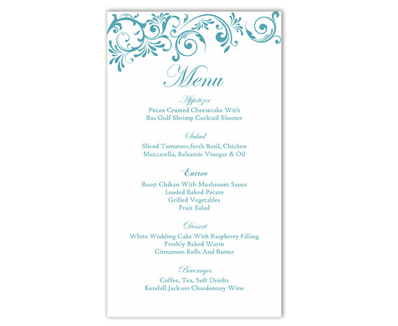 Diy menu mariage og41 jornalagora for Menu templates for weddings