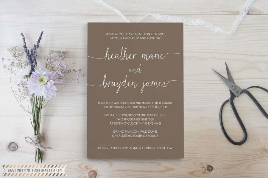 Mariage - Scribble Collection DIY Printable OR Printed Wedding Invitations