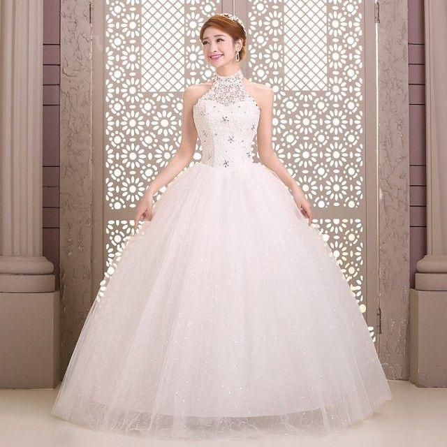 Dress - Lacing Halter-neck Wedding Dress #2474083 - Weddbook