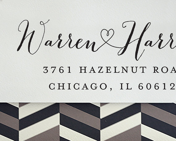 Mariage - Custom Address Stamp - Self Inking Address Stamp - Return Address Stamp - Personalized Gift - Housewarming Gift - Wedding Gift - 3000