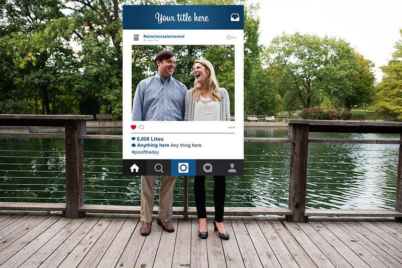 Custom Design Instagram Frame Booth Prop Digital