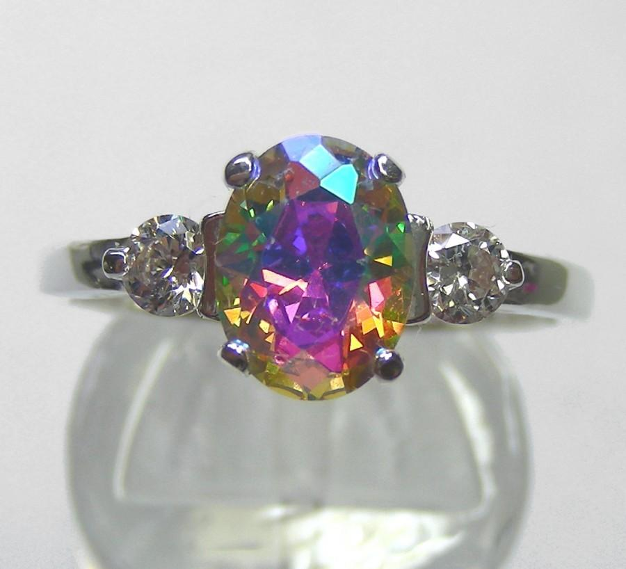 rings topaz bhp mystic fire ebay ring