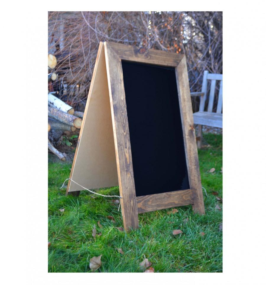 Свадьба - Rustic Sandwich Chalkboard 40x24, A-Frame Chalkboard, Chalkboard Easel, Wedding Sign, Menu Sign, Large Chalkboard, Bar Sign, Reception Sign