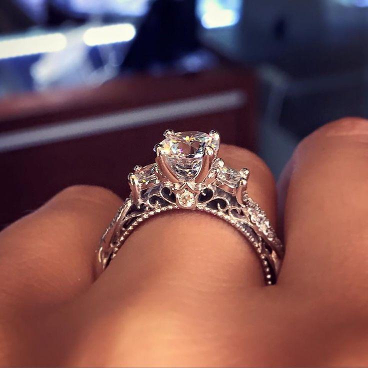 زفاف - Verragio AFN-5013R-4-GLD 0.45CTW Diamond Engagement Ring Mounting