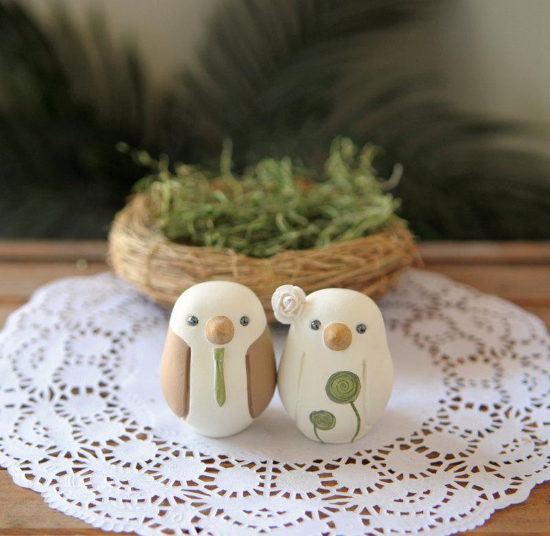 Mariage - Wedding Cake Topper - Love Birds - Small