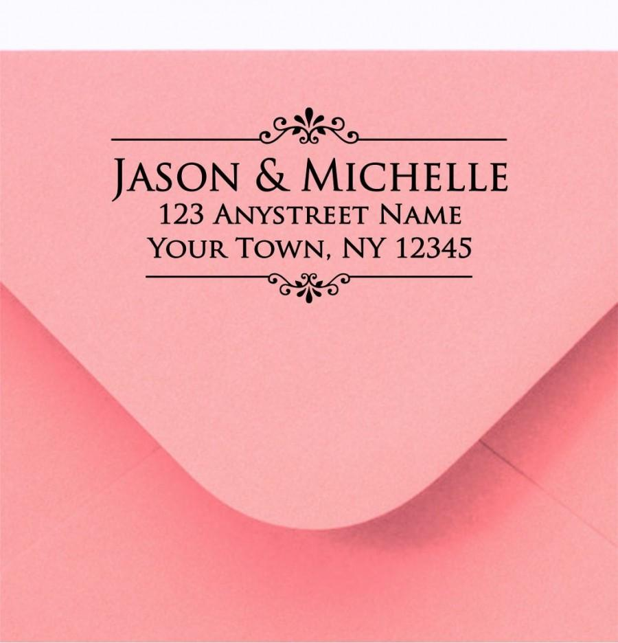 Mariage - Personalized Rubber Stamp Custom Made Return Address Stamp R189