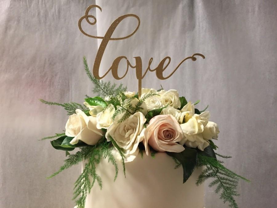 Wedding - Love Cake Topper, Engagement Cake Topper, Wedding cake Topper, Engagement Cake Topper, Bridal Shower Cake Topper, Cake Topper for Wedding