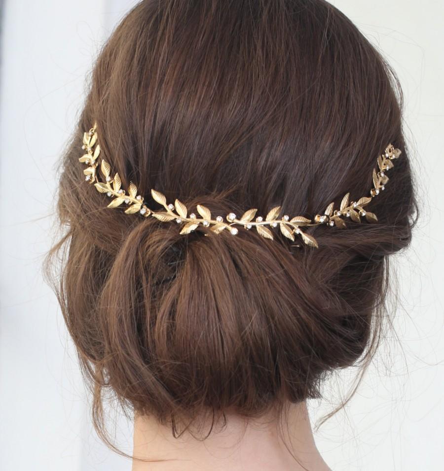Свадьба - Gold Bridal Leaf Tiara ,Bridal Leaf Headband ,Bridal Leaf Crown Wedding Tiara Wedding Headband Wedding Crown Woodland Wedding Accessories