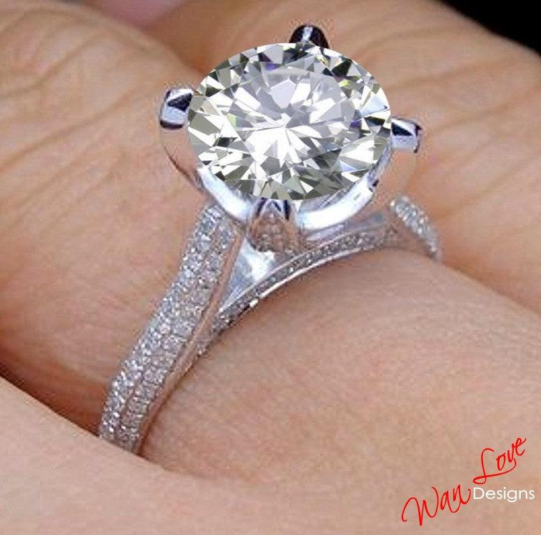 four prong a brilliant basket round enr gold rings french engagement cathedral trellis pav in ring platinum pave diamond white