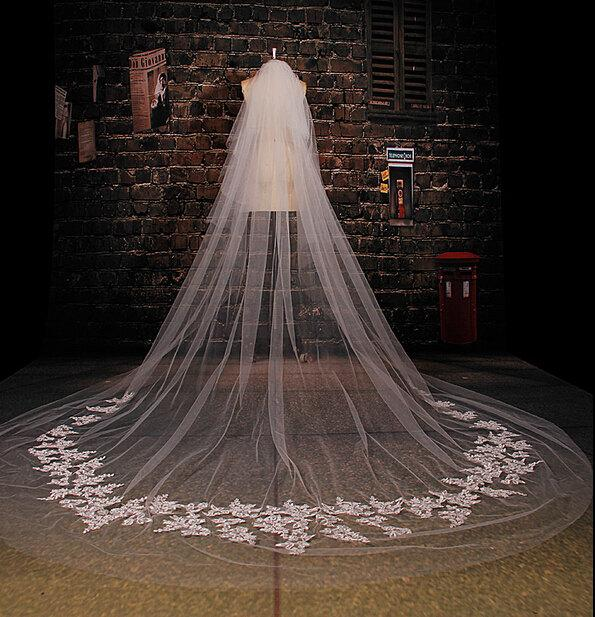 how to make a long wedding veil